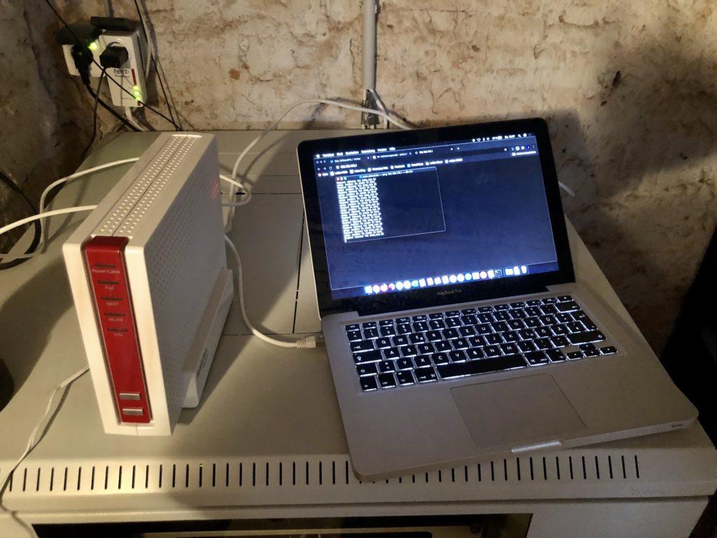 Paralelle Bereitstellung mit dem Laptop an der neuen FritzBox