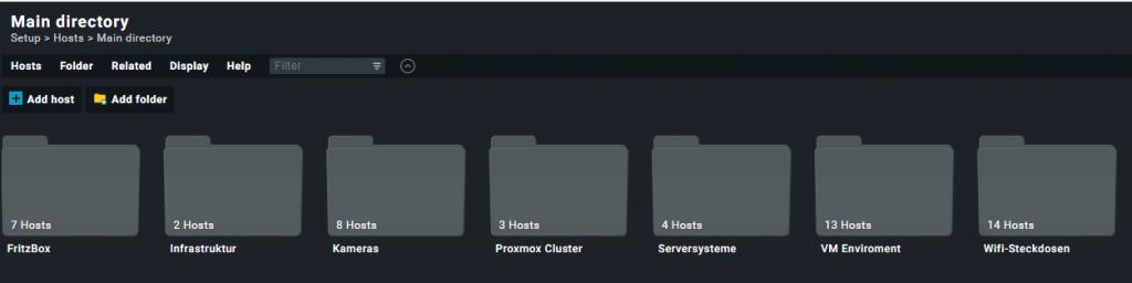 Ordnerstruktur in Check_MK nach Art des Hosts